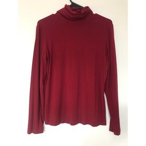 Chico's 0 Long Sleeve Red Turtleneck
